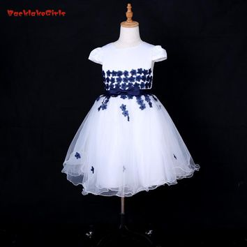 Don's Bridal Dreamlike Organza Flower Girl Dresses Dense Appliques For Bows and Ball Gown  Princess Kids Gowns