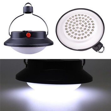 NEW 60 LED Portable Outdoor Indoor Camping Lantern Tent Light Campsite Hanging Lamp For 1x18650 3xAAA Battery operated