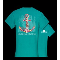 Southern Couture Pattern Anchor Girlie Bright T Shirt