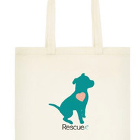 Charity Item! Rescuer Adopted Dog Tote Bag - All Profits Benefit Bloomington Humane Society