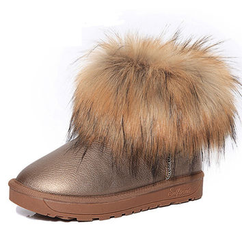 Women's Shoes Thick Fur Fashion Snow Boots 2016 New Winter Cotton Warm Shoes For Women Ankle Boots