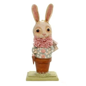 Easter POTTED BUNNY Polyresin Debra Schoch Hh8847