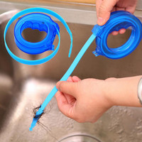 1pc Home Cleaning Brushes Tools Accessories Drain Sink Cleaner Bathroom Unclog Sink Tub Snake Brush Hair Removal Cleaner Tool