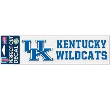 """Licensed Kentucky Wildcats Official NCAA 3"""" x 10"""" Die Cut Car Decal UK by Wincraft 355379 KO_19_1"""