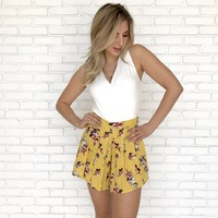 Sunset Stroll Floral Shorts