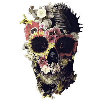 Ali Gulec's Garden Skull Wall Decal