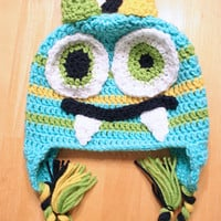 Monster Hat, Toddler Monster Hat, Crochet Monster cap for kids and toddlers, 12 month to 4t sizes available
