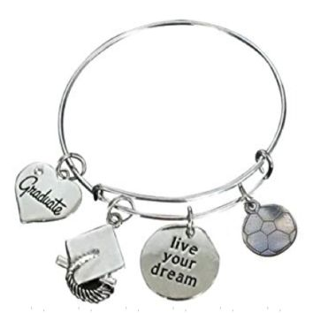 Soccer Graduation Live Your Dreams Bracelet