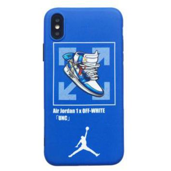 AIR JORDAN 1 x OFF-WHITE Joint Tide brand iPhone7 mobile phone case cover Blue
