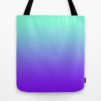 Tiffany Purple Fade Print Tote Bag by RexLambo