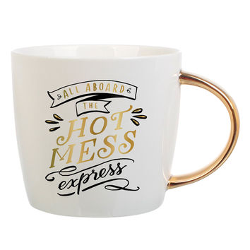 """SLANT COLLECTIONS """"ALL ABROAD THE HOT MESS"""" MUG"""