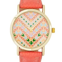 Tribal Chevron Leather Watch