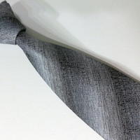 Gray Tie -  Gray Men's Necktie - Gray Cravat - EDK145118