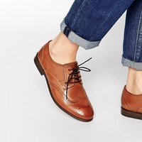 H By Hudson Paddy Leather Brogue Flat Lace Up Shoes