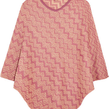 Missoni - Metallic crochet-knit mohair-blend poncho