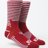 ICNY Striped Crew Socks - Mens Socks - Red - One