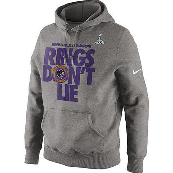 "Men's Nike Baltimore Ravens Super Bowl XLVII Champions ""Rings Don't Lie"" Hooded Sweatshirt"