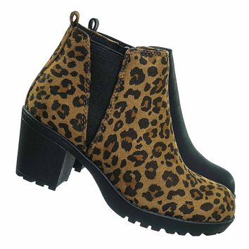 Giada2 Children Block Heel Clog Bootie - Kids Girls Ankle Boots