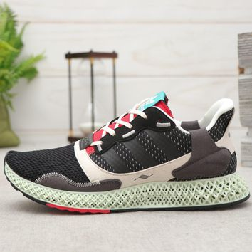 adidas ZX 4000 4D Black Grey Red Running Shoes