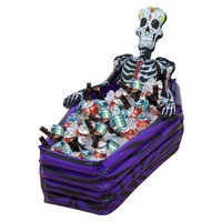 Inflatable Skeleton Coffin Drink Cooler Float!