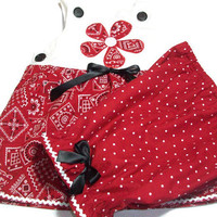 Baby Girl Clothing -  Baby Summer Fashion - Red Baby Outfit