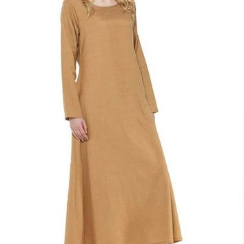 Simple Multiple Colors Cotton Ankle Length Steampunk Victorian Womens Under Dress