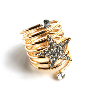 """Shine Like A Star"" Gold Ring"