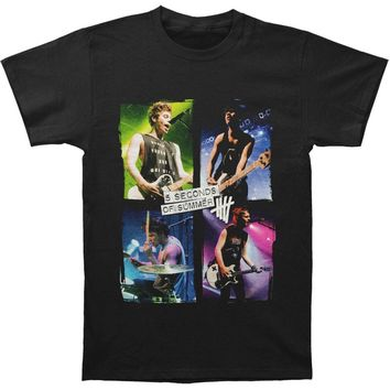 5 Seconds Of Summer Men's  Live In Colors T-shirt Black