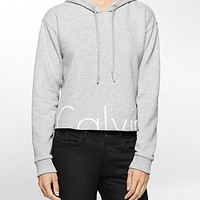 cropped logo hoodie | Jeans | Calvin Klein