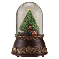 Musical Glitter Dome with Tree and Nutcracker