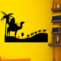 Wall Decals Animals Travel People Countries Bedouin Camel Camelcade Desert Living Any Room Vinyl Decal Sticker Home Decor Mural  ML157