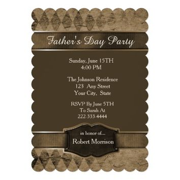 Argyle Fathers Day Invitation