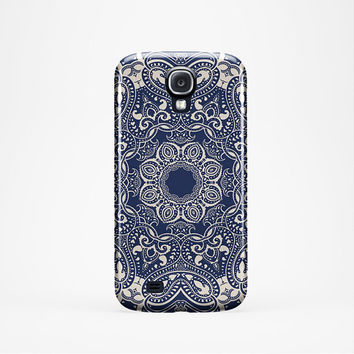 BLUE MANDALA iPhone 6 plus /5 /5c Case Mandala iPhone 6 Case Mandala iPhone 5c case Samsung S4 Case Mandala Galaxy s4/ s5 Case-cover