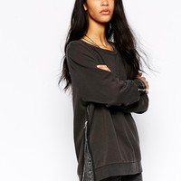 Cheap Monday Shelter Sweatshirt with Zippers