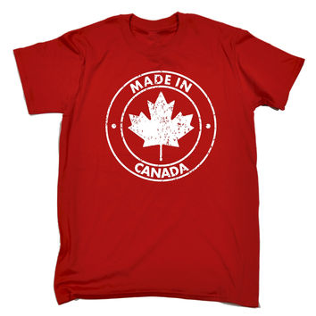 123t USA Men's Made In Canada Funny T-Shirt