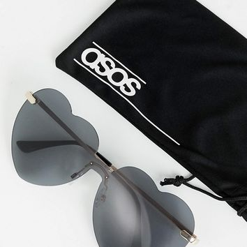 ASOS DESIGN Heart Sunglasses at asos.com