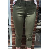 "Articles of Society ""Christina Skinny Crop"" Jean - Camby Olive Green"