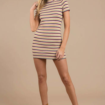 Back At It Striped Bodycon Dress