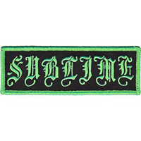 Sublime Iron-On Patch Old English Logo