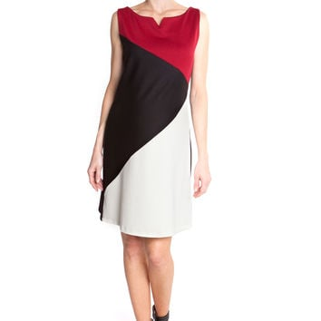 Olian Pamela Color Block Maternity Shift Dress