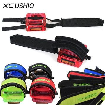 Fixed Gear Fixie BMX Bike Bicycle Cycling Anti-slip Double Adhesive Straps Pedal Toe Clip Double Magic Strap Belt Fixing Belt