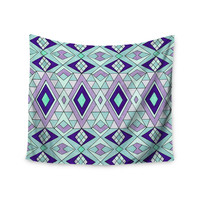"Pom Graphic Design ""Gems"" Purple Teal Wall Tapestry"