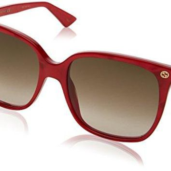 Sunglasses Gucci GG 0022 S- 006 RED / BROWN