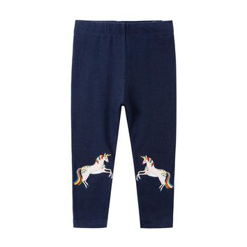 Jumping meters baby pencil pants full length children applique animals unicorn fashion new pant leggings for 2-7T girls princess