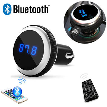 Car MP3 Audio Player Bluetooth FM Transmitter  FM Modulator Car Kit