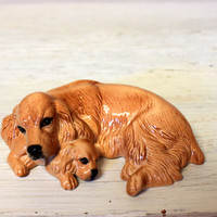 royal doulton cocker spaniel and pup // da174 // collectible china porcelain dog figurine