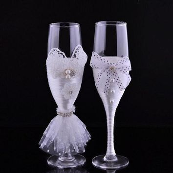 New Wedding Toasting Flutes Glasses