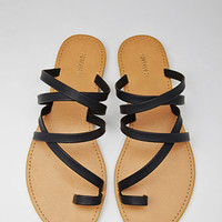 Strappy Toe-Loop Sandals