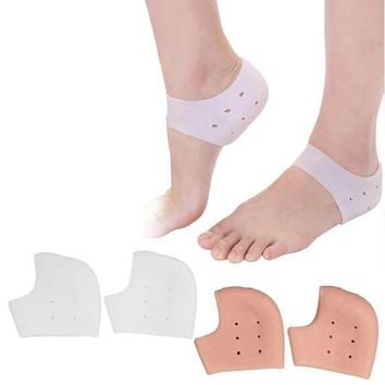 2pcs=1Pair Silicone Insole Foot Mask Moisturizing Heel Socks Foot Care Massage Exfoliating Pedicure Socks For Peeling Protector