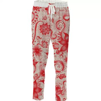 Red ink floral created by duckyb   Print All Over Me